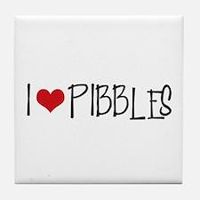 I Love Pibbles! Tile Coaster