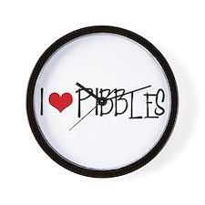 I Love Pibbles! Wall Clock