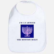 Funny Half Jewish the Bottom 1/2 Bib