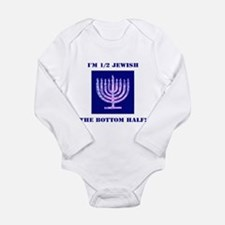 Funny Half Jewish the Bottom 1/2 Body Suit