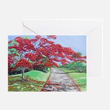 El Camino del Flamboyan Greeting Card