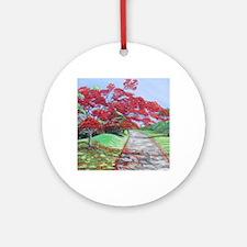 El Camino del Flamboyan Round Ornament