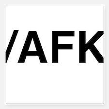 "AFK Square Car Magnet 3"" x 3"""