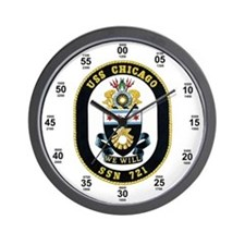 USS Chicago SSN-721 Wall Clock