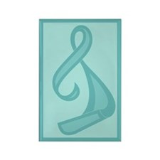 """""""Teal Ribbon Twist"""" Rectangle Magnet (100 pack)"""