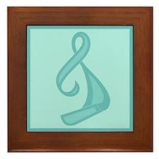 """""""Teal Ribbon Twist"""" Framed Tile"""
