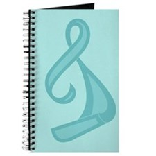 """Teal Ribbon Twist"" Journal"