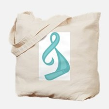 """Teal Ribbon Twist"" Tote Bag"