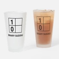 Binary sudoku Drinking Glass