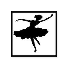 """Ballerina  Square Sticker 3"""" x 3"""""""