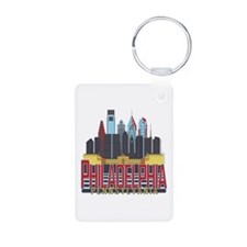 Philly Red & Blue Keychains