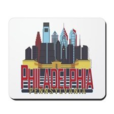Philly Red & Blue Mousepad