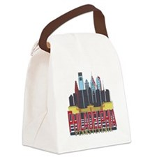 Philly Red & Blue Canvas Lunch Bag