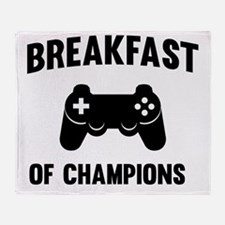 Breakfast of champions Throw Blanket