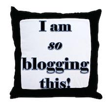Blogging This Throw Pillow