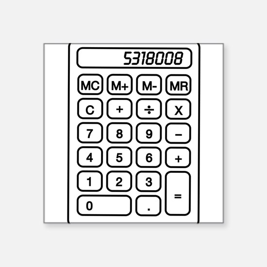 Calculator boobies Sticker