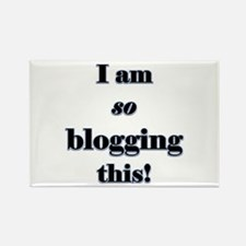 Blogging This Rectangle Magnet