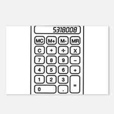 Calculator boobies Postcards (Package of 8)