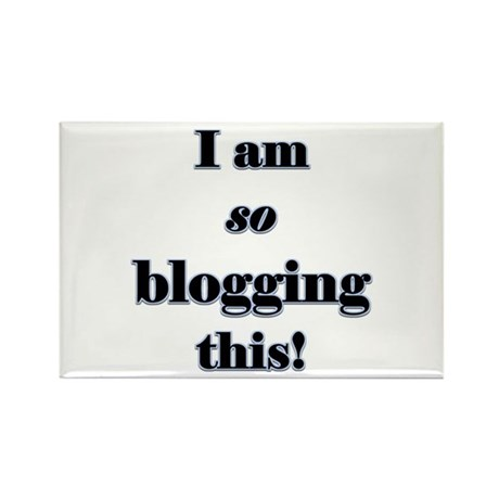 Blogging This Rectangle Magnet (100 pack)