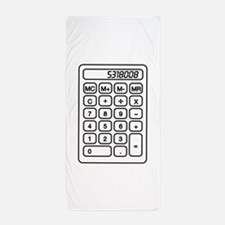 Calculator boobies Beach Towel