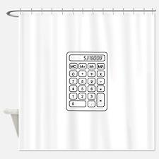 Calculator boobies Shower Curtain