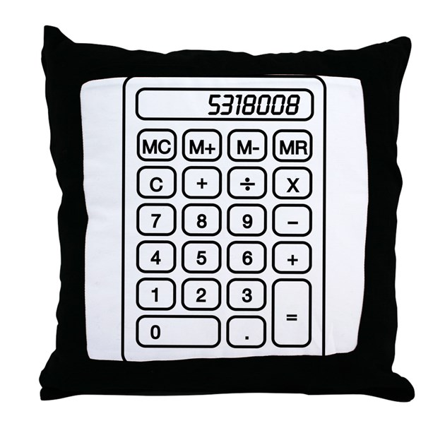 Throw Pillow Yardage Calculator : Calculator boobies Throw Pillow by geeksgeek