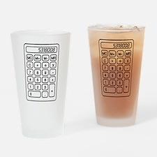 Calculator boobies Drinking Glass