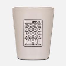 Calculator boobies Shot Glass