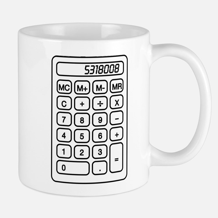 Calculator boobies Mugs