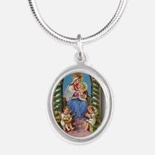 Cool Prince of peace Silver Oval Necklace