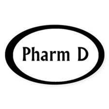 Pharm D Oval Decal