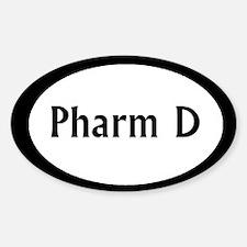 Pharm D Oval Decal
