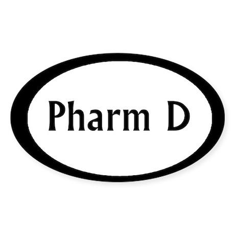 Pharm D Oval Sticker