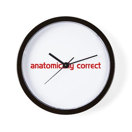 Anatomically Correct Wall Clock