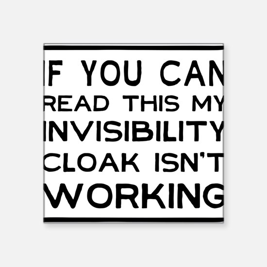 Invisibility cloak not working Sticker