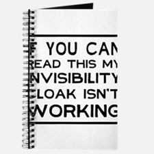 Invisibility cloak not working Journal