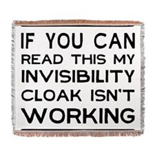 Invisibility cloak not working Woven Blanket