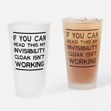 Invisibility cloak not working Drinking Glass