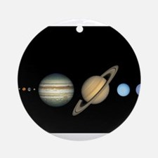 Scale Solar System Planets Ornament (Round)
