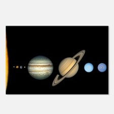 Scale Solar System Planets Postcards (Package of 8