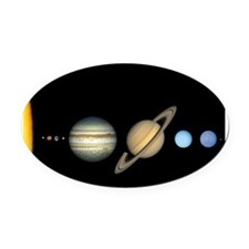 Scale Solar System Planets Oval Car Magnet