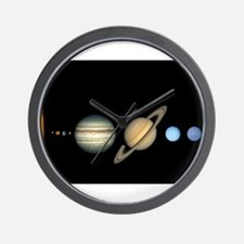 Scale Solar System Planets Wall Clock