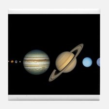 Scale Solar System Planets Tile Coaster