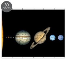Scale Solar System Planets Puzzle