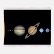 Scale Solar System Planets Throw Blanket
