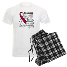 Throat Cancer Courage Pajamas