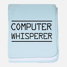 Computer whisperer baby blanket