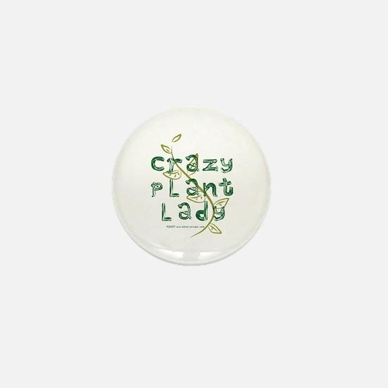 Crazy Plant Lady Mini Button