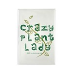 Crazy Plant Lady Rectangle Magnet (100 pack)