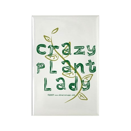 Crazy Plant Lady Rectangle Magnet
